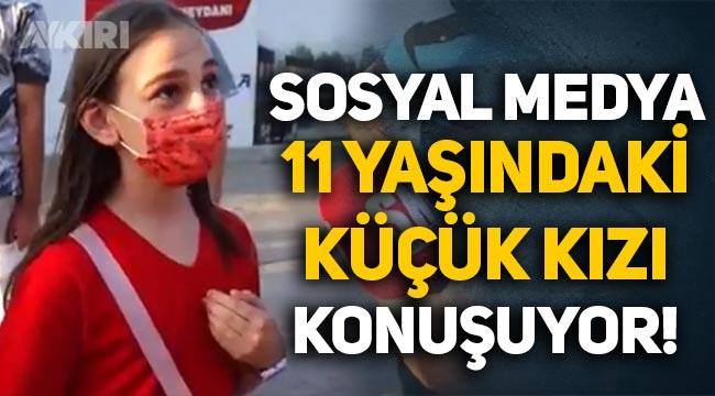 """Sosyal medya 11 yaşındaki küçük kızı konuşuyor: """"5 kişiyiz, 2 bin lira kime yetsin!"""""""