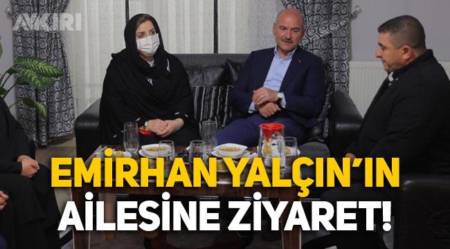 Süleyman Soylu, Altındağ'da öldürülen Emirhan Yalçın'ın ailesini ziyaret etti