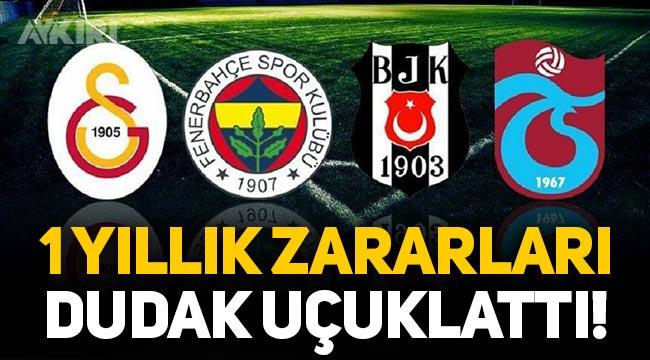 Süper Lig'in 4 büyükleri 1 yıllık zararlarıyla dudak uçuklattı: 1 milyar 252 milyon lira!