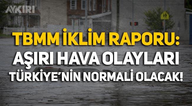 """TBMM raporu: """"Aşırı hava olayları Türkiye'nin normali olacak!"""""""