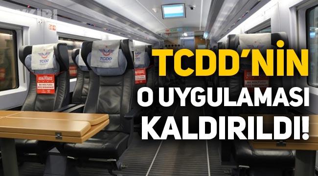 TCDD, trenlerdeki 'kadın yanı' uygulamasını sonlandırdı!