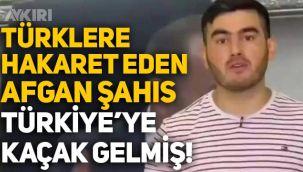 Türklere ve Tanju Özcan'a hakaret eden Afgan Sunatullah Saadat, Türkiye'ye kaçak yollarla gelmiş!