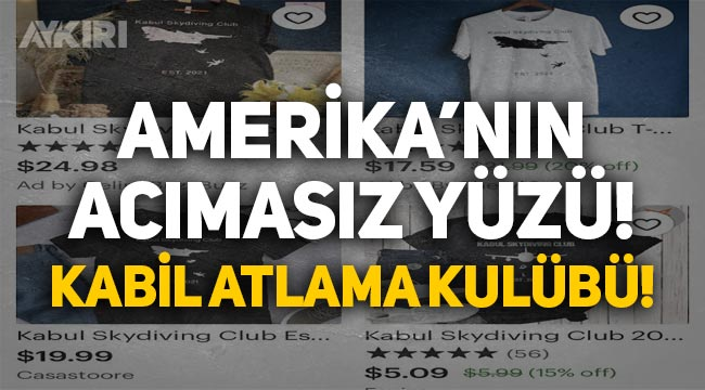 """Uçaktan düşen Afganların tişörtünü yaptılar, """"Kabil Atlama Kulübü"""" diyerek satışa sundular!"""