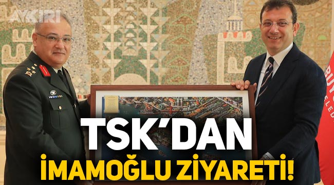 1. Ordu Komutanı Kemal Yeni, Ekrem İmamoğlu'nu ziyaret etti
