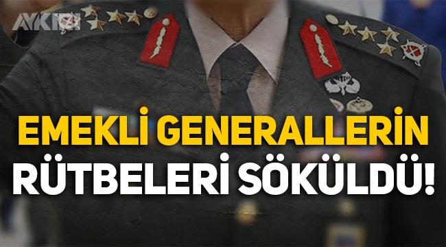 28 Şubat davası: Çetin Doğan ve Çevik Bir'in aralarında bulunduğu 13 emekli generalin rütbeleri söküldü!