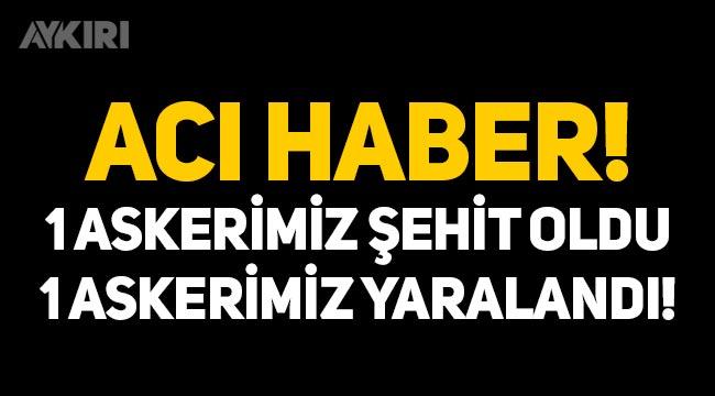 Acı haber: Pençe-Şimşek bölgesinde 1 askerimiz şehit oldu, 1 askerimiz yaralandı!