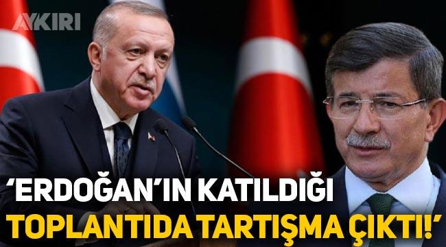 """Ahmet Davutoğlu: """"Faiz kararı öncesinde Erdoğan'ın katıldığı toplantıda tartışma çıktı!"""""""