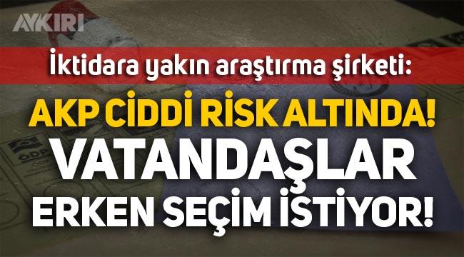 AKP'ye yakın araştırma şirketi: AKP ciddi risk altında, vatandaşlar erken seçim istiyor!