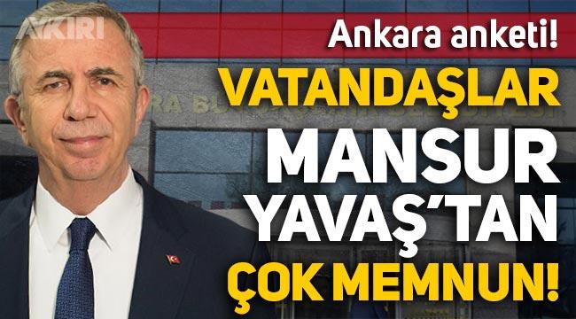 Ankara'da AKP'ye soğuk duş: CHP birinci parti oldu, halkın yüzde 63'ü Mansur Yavaş'tan memnun!