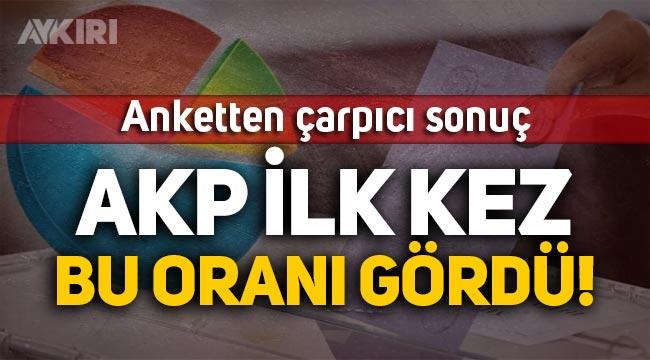 Anket: AKP, 2001'den beri ilk kez bu kadar düşük oy alıyor!