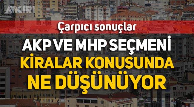 Anket: AKP ve MHP seçmeni kiralar konusunda ne düşünüyor