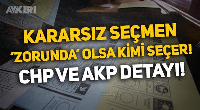 Anket: Kararsız seçmen 'zorunda' olsa hangi partiye oy verir? AKP ve CHP detayı