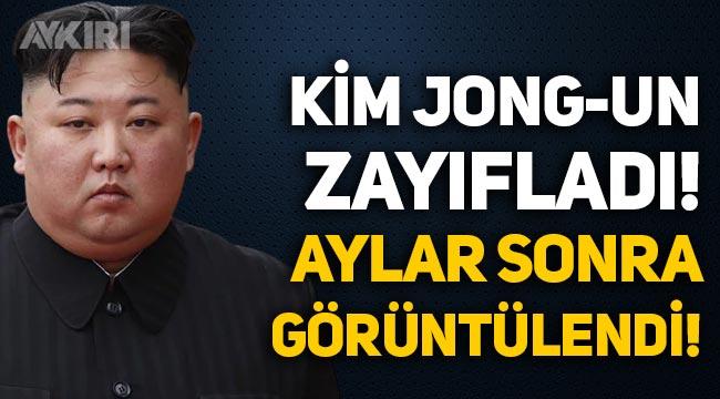 Aylar sonra görüntülendi: Kuzey Kore lideri Kim Jong-un zayıfladı!