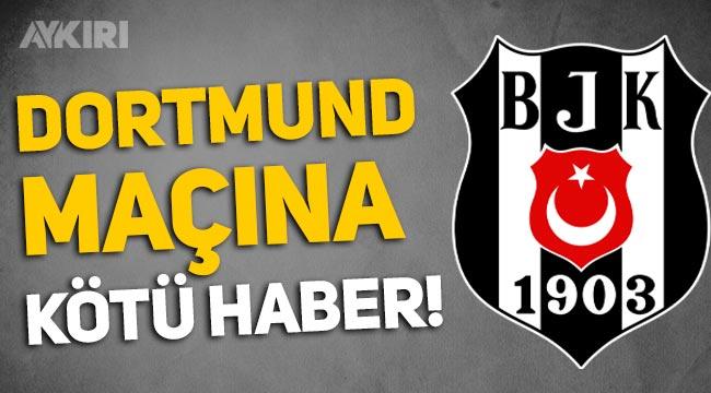 Beşiktaş'a Dortmund maçı öncesi kötü haber: Vida ve Alex Teixeira forma giyemeyecek