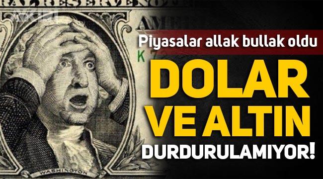 Dolar ve altın durdurulamıyor! Dolar kaç lira? Gram altın ne kadar?