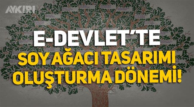 E-Devlet'te soy ağacı oluşturma dönemi! Soy ağacı nasıl oluşturulur? Soy ağacı oluşturma adresi