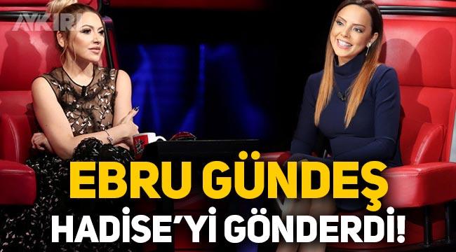 Ebru Gündeş gerginliği Hadise'ye O Ses Türkiye jüriliğini bıraktırdı!