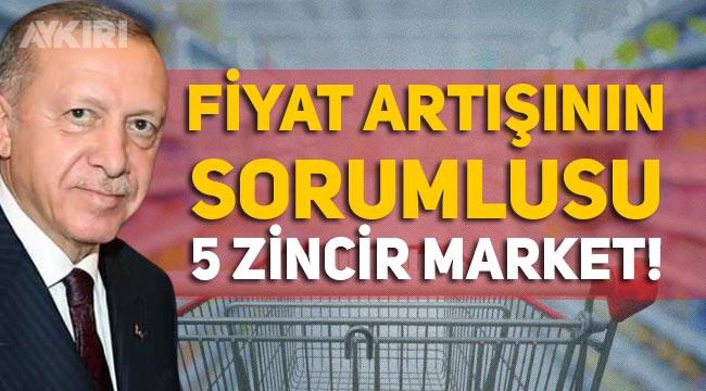 Erdoğan artan fiyatlarla ilgili 5 zincir marketi suçladı
