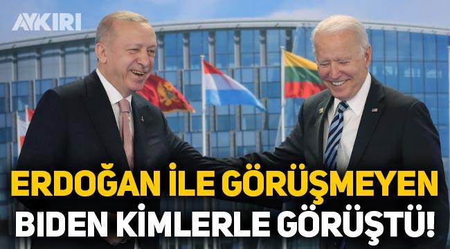 Erdoğan ile görüşmeyen Biden hangi liderlerle görüştü?