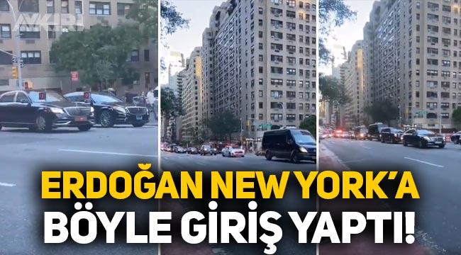 Erdoğan'ın New York'taki araç konvoyu gündemde