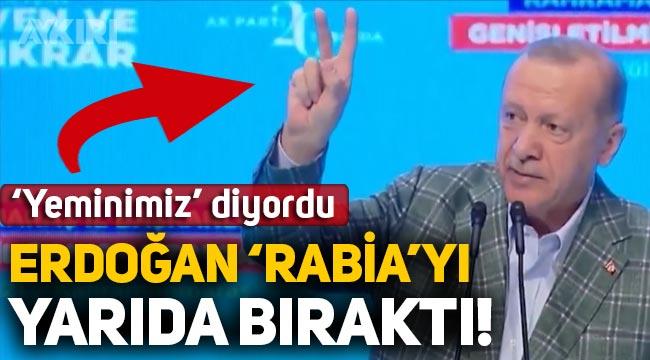 """Erdoğan, Mısır ile normalleşme sürecinin ardından """"Yeminimiz"""" dediği 'Rabia' işaretini yarıda bıraktı!"""