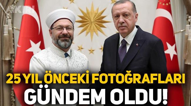 Erdoğan ve Ali Erbaş'ın 25 yıl önceki fotoğrafı gündem oldu!