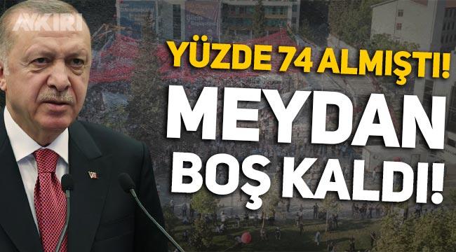 Erdoğan, yüzde 74 oy aldığı Kahramanmaraş'ta meydanı dolduramadı!