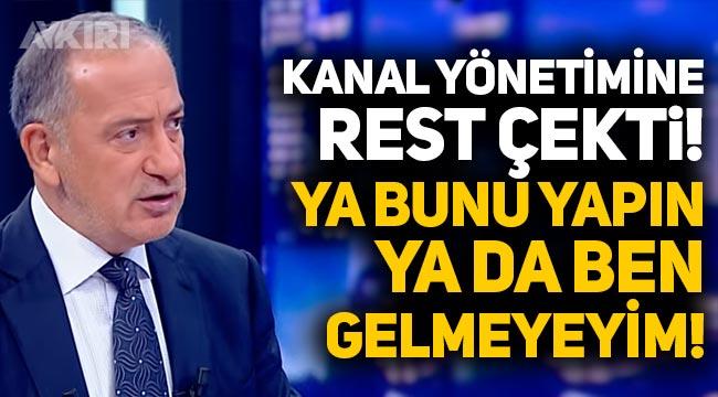 """Fatih Altaylı'dan HaberTürk yönetimine: """"Ya bunu yapın ya da ben gelmeyeyim!"""""""