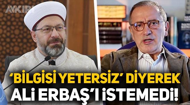"""Fatih Altaylı: """"Mehmet Görmez, Ali Erbaş'ı 'bilgisi yetersiz' diyerek istemedi!"""""""