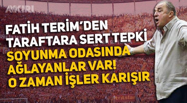 """Fatih Terim Alanyaspor maçı sonrası konuştu: """"Taraftarın tepkisi hoş değil, içeride ağlayan futbolcular var"""""""