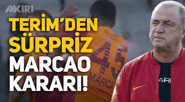 Fatih Terim'den sürpriz Marcao kararı!