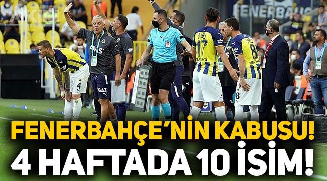 Fenerbahçe'nin kabusu: 4 haftada 10 isim sakatlandı