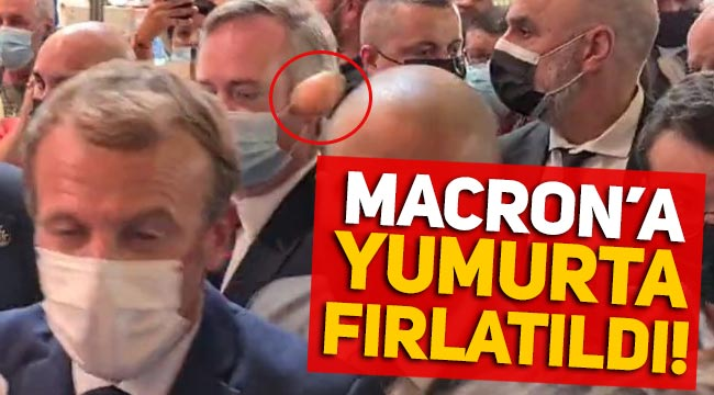 Fransa'da Macron'a yumurta fırlatıldı