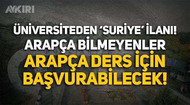 Gaziantep Üniversitesinden 'Suriye' kılıfıyla adrese teslim kadro iddiası