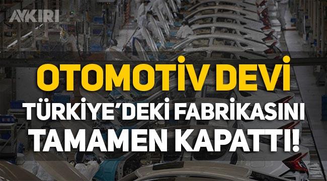 Honda, Türkiye'deki fabrikasını kapattı