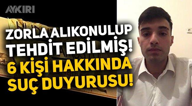"""""""Hudut Namustu"""" pankartı asan Ahmet Ç. 6 kişi hakkında suç duyurusunda bulundu"""