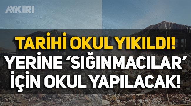 İzmir'de tarihi Necati Bey Ortaokulu yıkıldı, yerine 'sığınmacılar' için okul yapılacak!