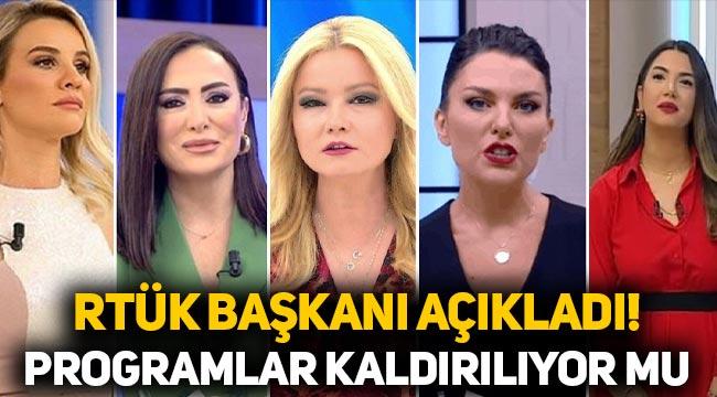 Kadın programları kaldırılacak mı? RTÜK Başkanı Ebubekir Şahin'den açıklama
