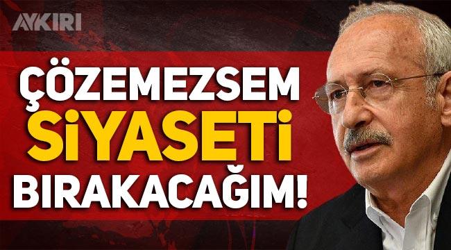 """Kemal Kılıçdaroğlu: """"1 yıl içinde yurt sorununu çözmezsem siyaseti bırakacağım!"""""""