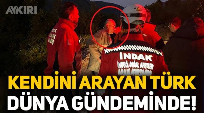 Kendisini arama çalışmalarına katılan Türk, dünya gündeminde!