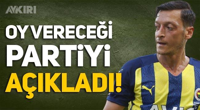 Mesut Özil, seçimlerde oy vereceği partiyi açıkladı! Mesut Özil hangi partili?