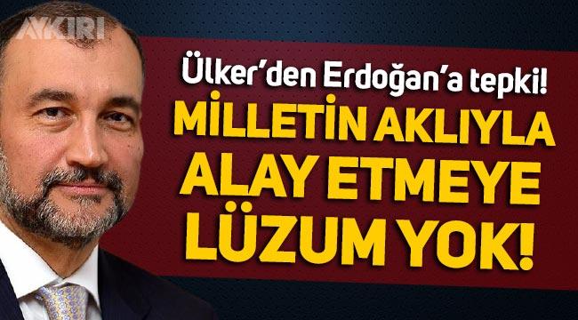 """Murat Ülker'den Erdoğan'a 'fahiş fiyat' cevabı: """"Milletin aklıyla alay etmeye lüzum yok!"""""""