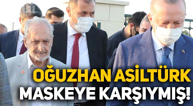 """Oğuzhan Asiltürk, """"Maske korumuyor"""" demiş, aşı da olmamış!"""