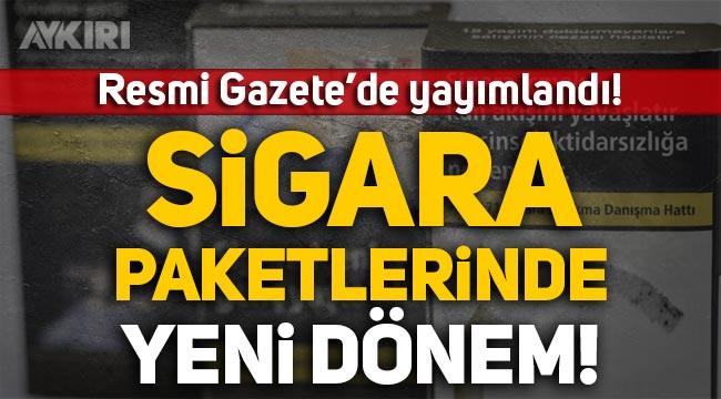 Resmi Gazete'de yayımlandı: Sigara paketleri hakkında yeni karar!