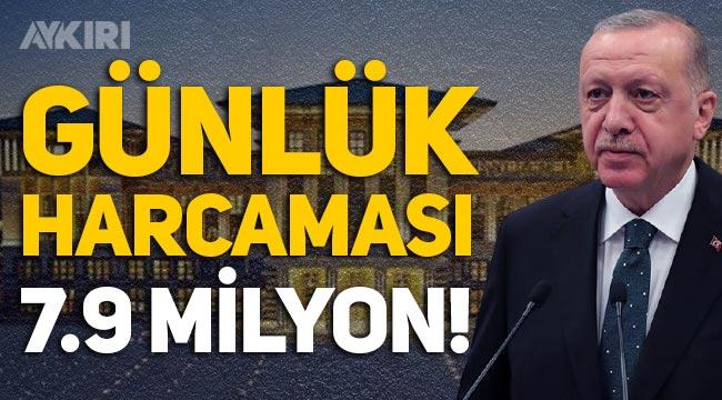 Saray'ın günlük harcaması 7.9 milyon lira