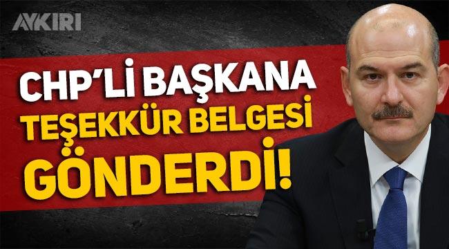 Süleyman Soylu'nun tebrik ettiği CHP'li belediye