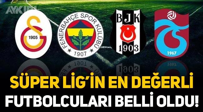 Süper Lig'in en değerli futbolcuları belli oldu! Süper Lig'de piyasa değeri en yüksek futbolcular kim?