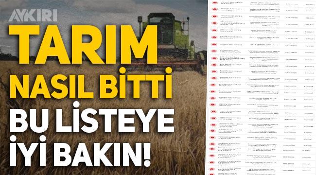 Tarımın bittiğini gösteren liste: Yüzlerce çiftçinin tarlası ve traktörü icradan satışa çıkarıldı!