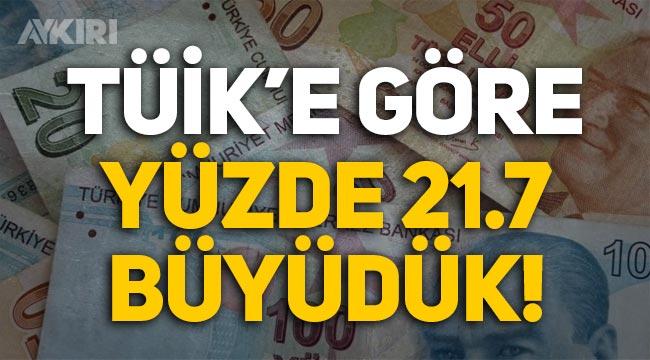 TÜİK'e göre Türk ekonomisi yüzde 21,7 büyüdü!