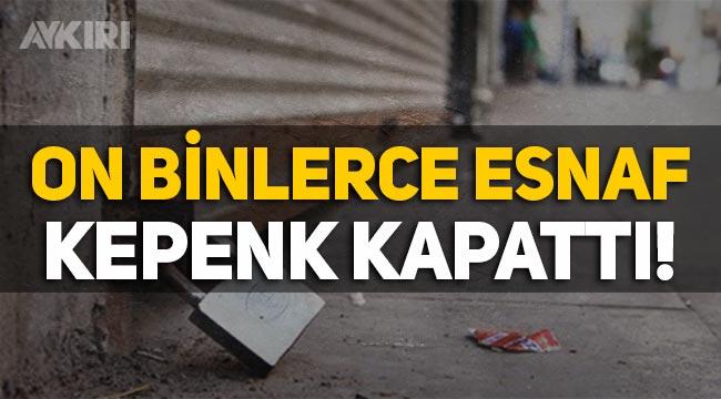 Türkiye'de 8 ayda 60 binden fazla esnaf kepenk kapattı!